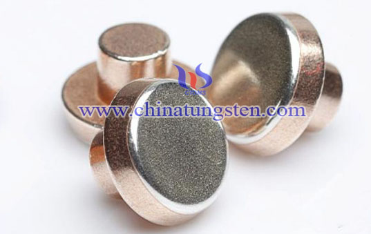 tungsten copper solid rivet contacts