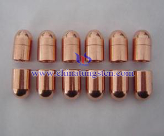 tungsten copper spot welding electrode